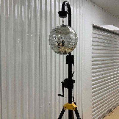 Disco ball with 2 led pin spot lights picture 2