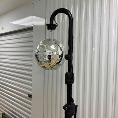 disco ball with 2 led pin spot lights-2