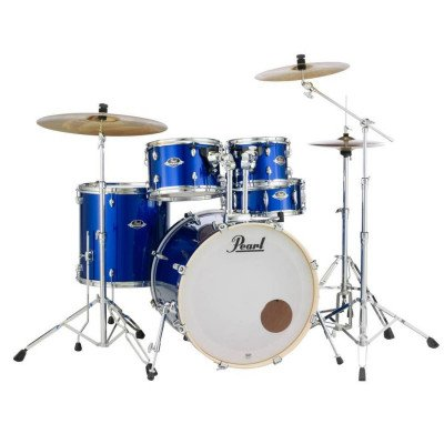 Export EXX 5 Piece Drum Kit W/Cymbals, Hardware And Throne - High ...