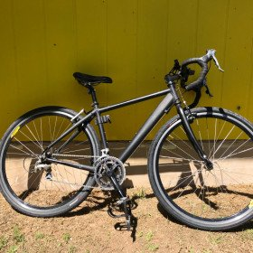 New black racing bicycle, Wide Tires for Street - adult