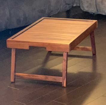 Wooden laptop/eating table