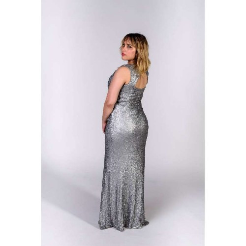 Silver Siren gown by David Meister