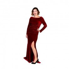 Badgley Mischka Red Velvet Gown
