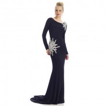 Nika Black-with-the-most-beautiful-beading-ever gown