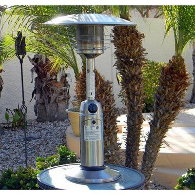 portable tabletop stainless steel patio heater picture 1