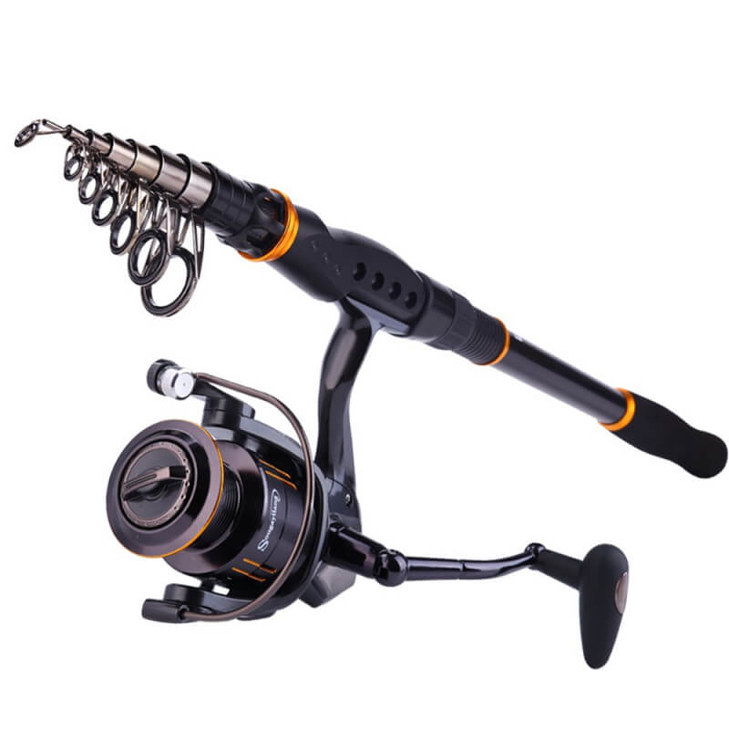 Fishing rods with a spin reel