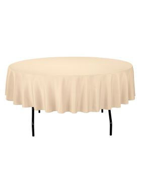 Ivory - Round Tablecloth – Poly – 90""