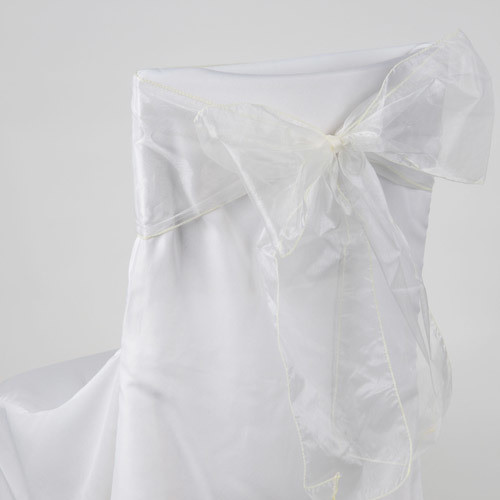 Ivory – Chair Sash - Organza