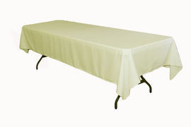 """Ivory – Rectangle Tablecloth – Poly - 50""""x120"""""""