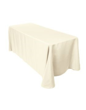 "Ivory - Rectangle Tablecloth – Poly - 90""x132"""