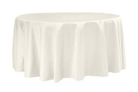 Ivory – Round - Tablecloth - Lamour – 120""