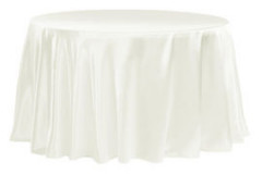 Ivory – Round - Tablecloth - Satin 120""