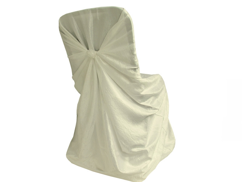 Ivory – Chair Cover Universal - Crinkle Taffeta
