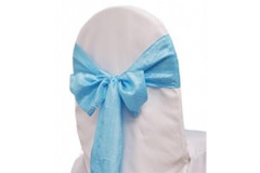Light Blue – Chair Sash - Taffeta Crinkle