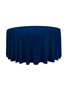 """Navy Blue – Round Tablecloth – Poly – 120"""""""
