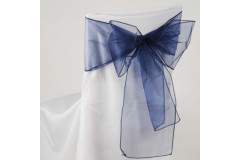 Navy Blue – Chair Sash - Organza