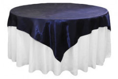 "Navy Blue – Overlay - Satin – 72""x72"""