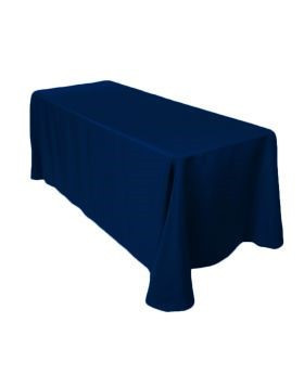 "Navy Blue - Rectangle Tablecloth – Poly - 90""x132"""
