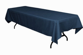 "Navy Blue – Rectangle Tablecloth – Poly - 50""x120"""