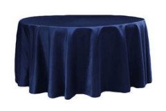Navy Blue – Round - Tablecloth - Lamour – 120""