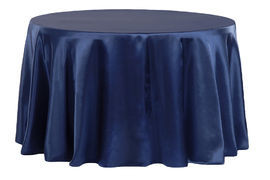 Navy Blue – Round - Tablecloth - Satin 120""