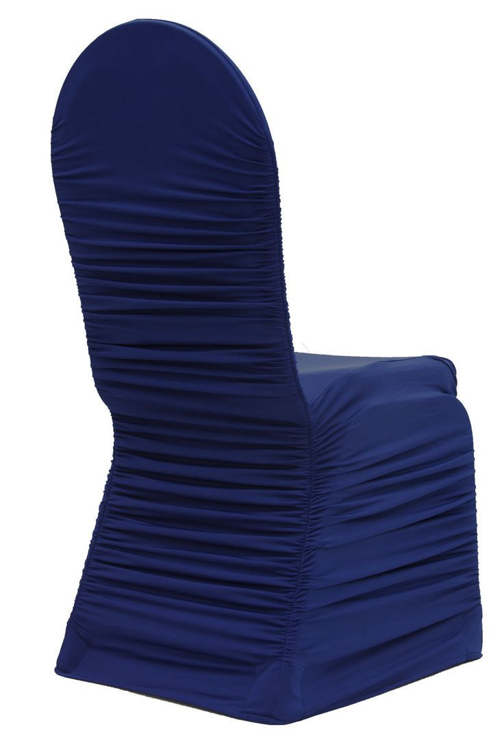 Navy - Chair Cover - Ruched Fashion