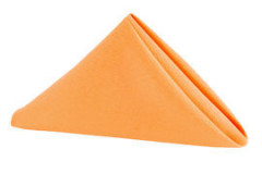 "Orange - Napkin – Poly – 20""x20"""