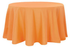 Orange - Round Tablecloth – Poly – 120""