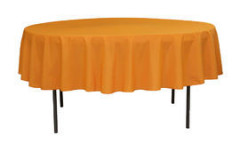 Orange - Round Tablecloth – Poly – 90""