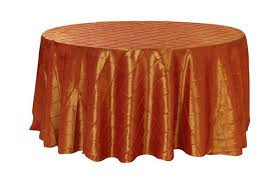 Orange – Round - Tablecloth – Pintuck - 120""