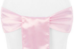 Pink – Chair Sash - Satin