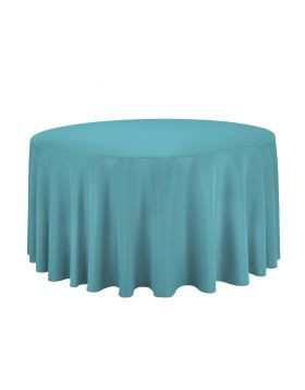 Turquoise - Round Tablecloth – Poly- 120""