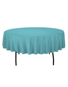 """Turquoise - Round Tablecloth – Poly – 90"""""""