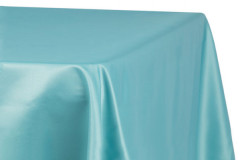 "Turquoise – Rectangle - Tablecloth – Satin – 90""x156"""