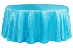 Turquoise – Round - Tablecloth – Pintuck - 120""