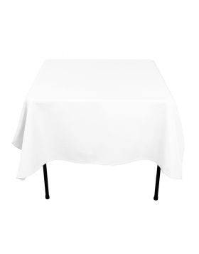 "White - Square Tablecloth – Poly – 70""x70"""