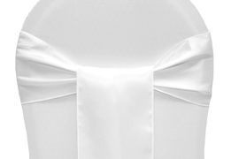 White – Chair Sash - Satin