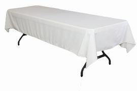 "White – Rectangle Tablecloth – Poly - 50""x120"""