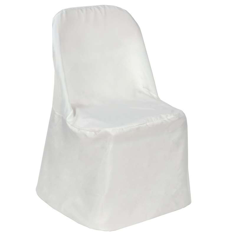 White – Chair Cover Folding Flat  - Polyester