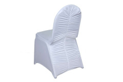 White - Chair Cover Milan Banquet  - Spandex