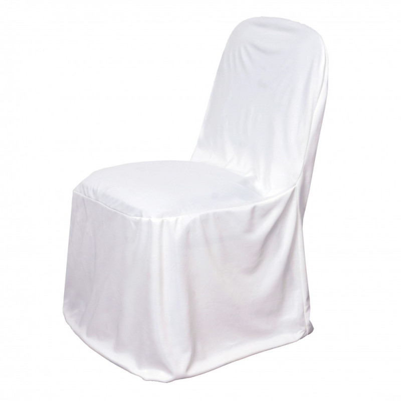 White – Chair Cover Stretch Scuba - Poly/Cotton