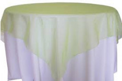"Apple Green – Overlay – Organza – 72""x72"""