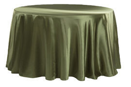 Willow Green - Round – Tablecloth - Satin 120""