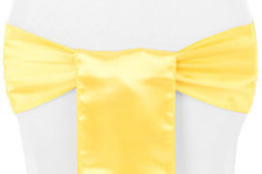Yellow - Chair Sash - Satin