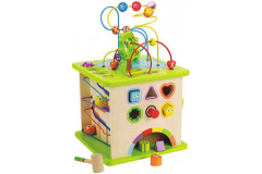 Hape -Country Critters Wooden Activity Toddler Play Cube
