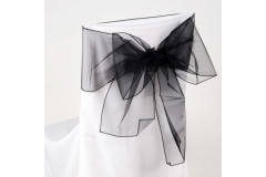 Black – Chair Sash - Organza