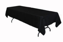 "Black – Rectangle Tablecloth – Poly - 50""x120"""