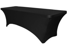 Black – Rectangular Table Cover – Spandex – 6'x30""