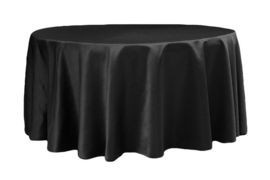 Black – Round - Tablecloth - Lamour – 120""