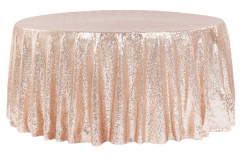 Blush – Round Tablecloth – Sequins - 120""